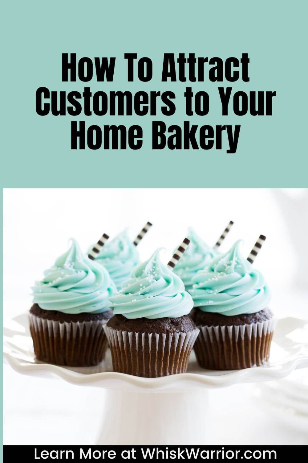 Using social media platforms, spreading business cards and flyers, receiving and posting positive customer reviews, and maintaining a delicious, consistent menu are all ways that will help attract customers to your home bakery.